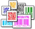 Most popular matrix and stacked barcode symbologies are supported