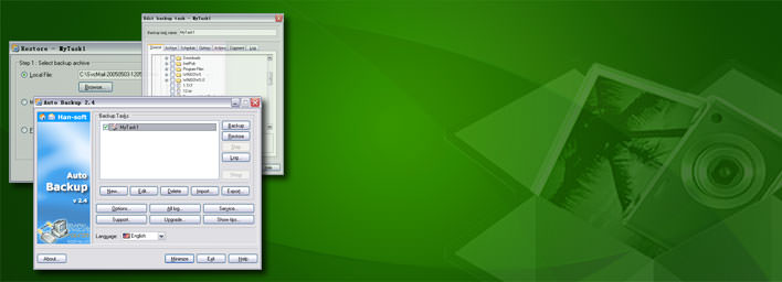 Auto Backup Software banner